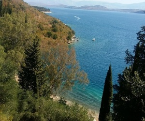beautiful, blue water, and corfu image