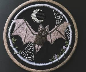 bat, black, and embroidery image