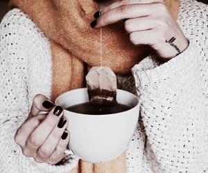 aesthetic, scarf, and tea image