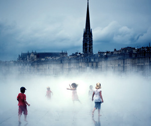creepy, fog, and love image