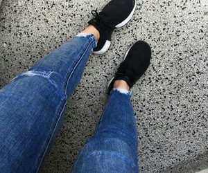legs, nike, and jeans image