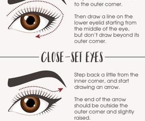 eyeliner, makeup, and almond eyes image