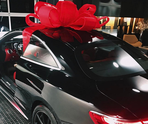 car, redbow, and gift image