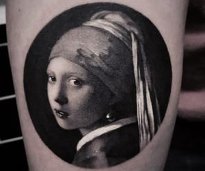 vermeer, tattoo, and black and image