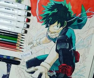 art, drawing, and boku no hero academia image