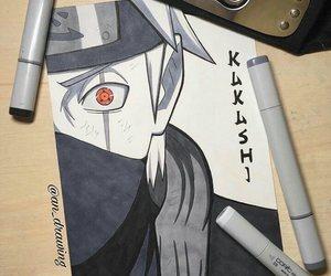 art, drawing, and kakashi image
