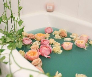 flowers and bath image