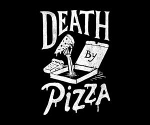black & white, pizza, and wallpapers image