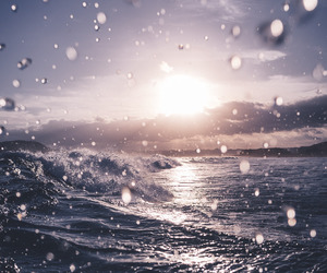 beautiful, sun, and waves image