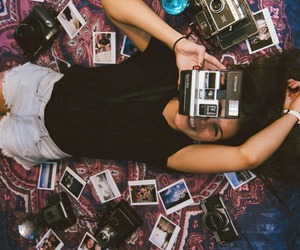 me, photography, and polaroid image