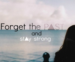 girl, forget, and past image