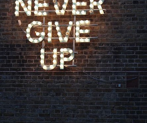 light, neon, and never give up image