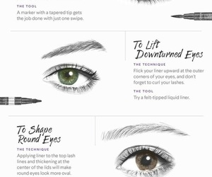 eye makeup, eyeliner, and makeup image