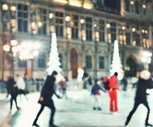 winter, ice skating, and christmas image