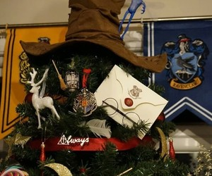 christmas, decoracion, and harry potter image