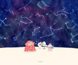 astrology, illustration, and starry night image