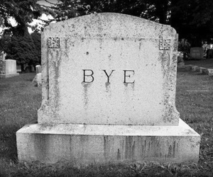 bye, black and white, and death image