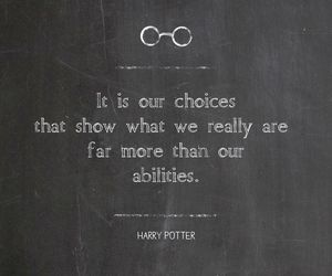 choices, harry potter, and abilities image