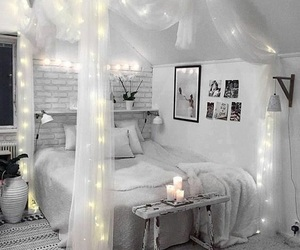 bedroom, light, and home image