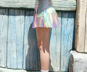 style, skirt, and holographic image