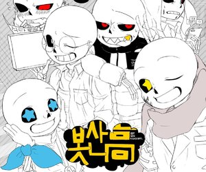 undertale, fell!sans, and ink!sans image