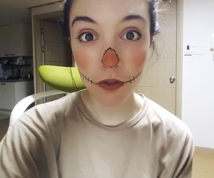 facepaint, fall, and Halloween image
