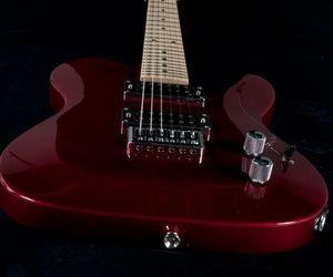 burgundy, guitars, and maroon image