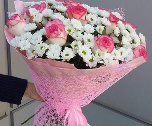 bouquet, flowers, and beauty image