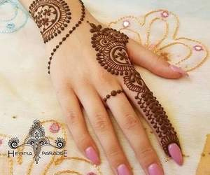 girly, henna, and mehndi image