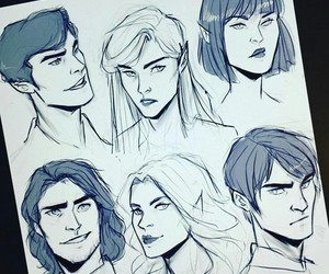 mor, cassian, and feyre image