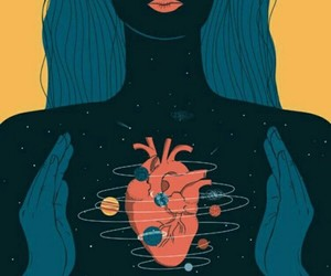 heart, art, and planet image
