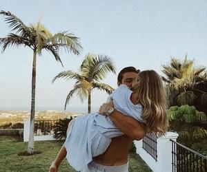 couple, kiss, and palmtree image