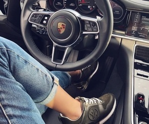 black, car, and woman image