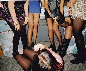 girl, party, and drunk image