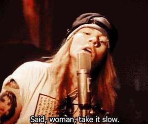 axl rose, Guns N Roses, and Lyrics image