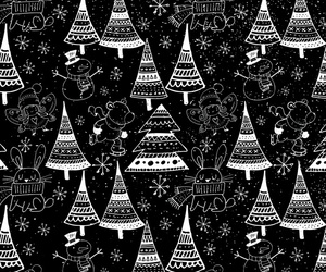background, black and white, and snowflake image