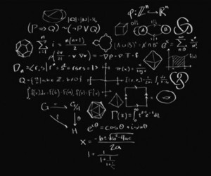 math, heart, and physics image