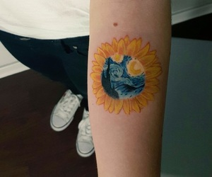 art, sunflower, and tatou image