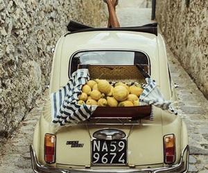 italy, lemon, and car image