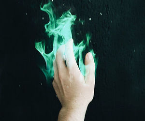 aesthetic, fire, and green image