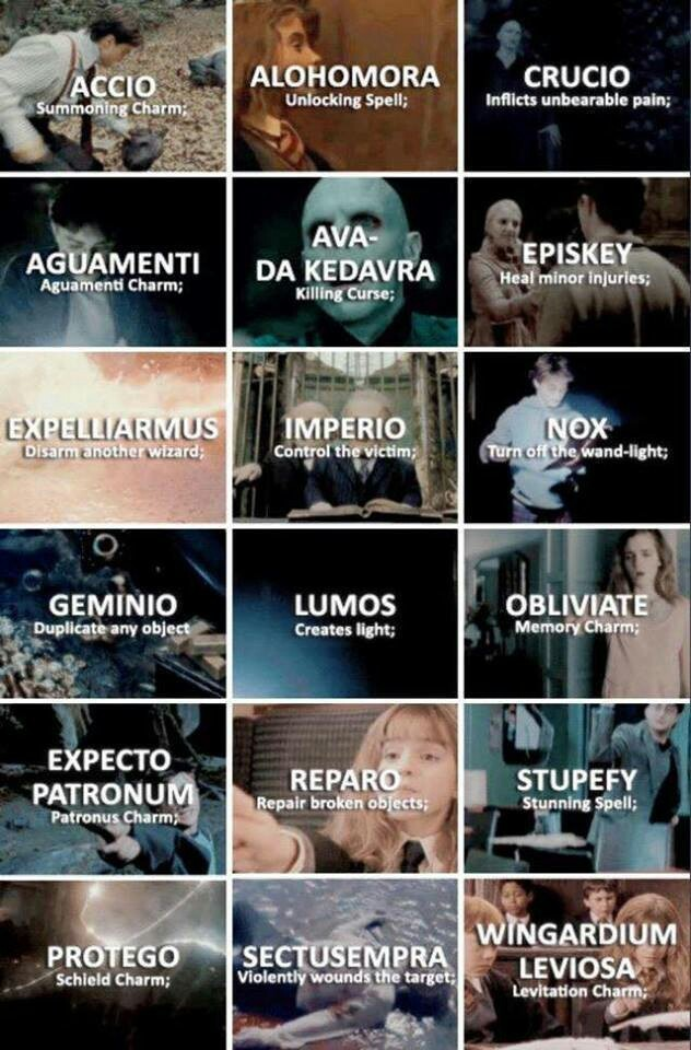 harry potter, spell, and hermione granger image