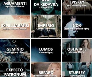 harry potter, spell, and hp image