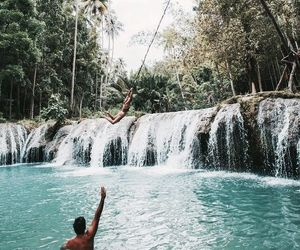 summer, travel, and waterfall image