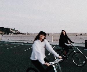 friends, adventure, and bike image
