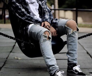 fashion, vans, and flannel image