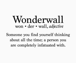 quotes, love, and wonderwall image