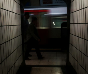 dark, underground, and lights image