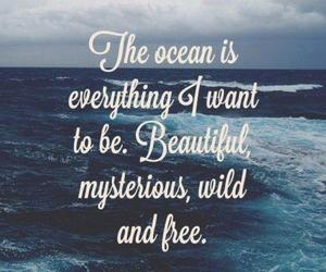 ocean, quotes, and free image