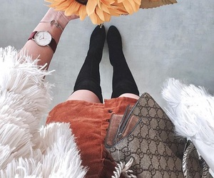 accesories, boots, and fall image