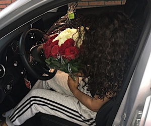 adidas, cars, and curls image
